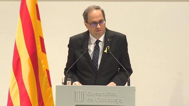 Quim Torra en la Generalitat de Catalunya