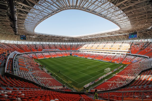 A view shows the stadium Mordovia Arena, which will host matches of the 2018 FIF