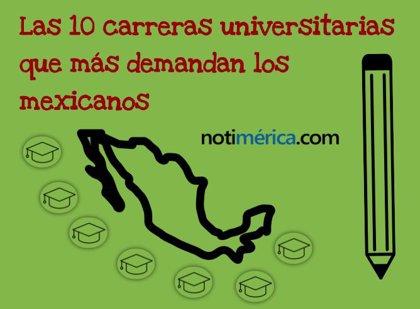 ¿Cuáles son las 10 carreras universitarias que más demandan los estudiantes mexicanos?