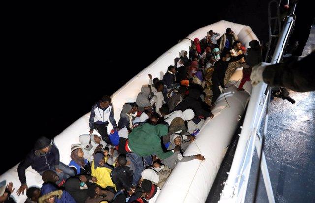 Imagen de archivo de un rescate de la Guardia Costera Libia