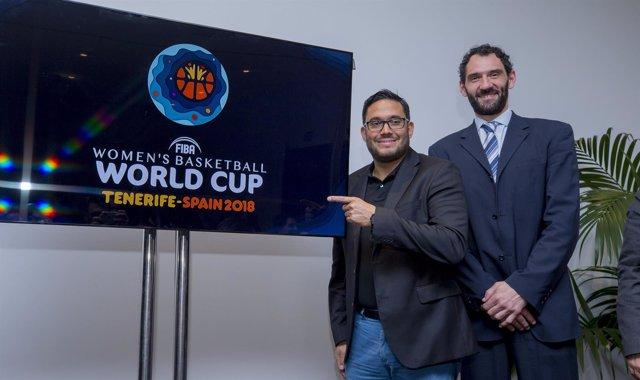 Garbajosa presenta el logo de la Copa del Mundo de Tenerife