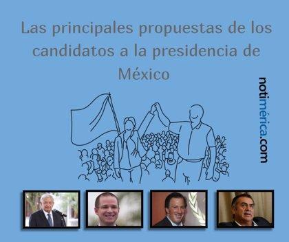 Estas son las principales propuestas de los cuatro candidatos a la Presidencia de México