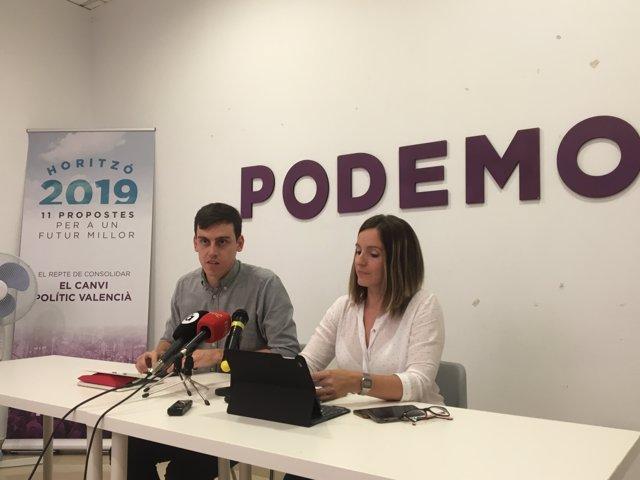 Ferran Martínez i Àngela Ballester en roda de premsa