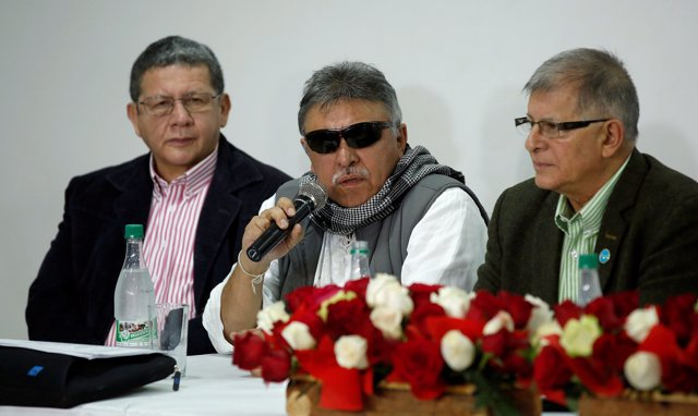 FILE PHOTO: Colombia's Marxist FARC Jesus Santrich speaks during a news conferen