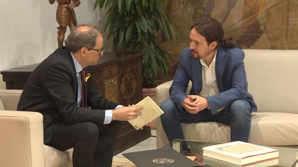 """Pablo Iglesias dice que le """"consta"""" que """"la vía unilateral no está en la agenda"""" del Govern de Cataluña"""