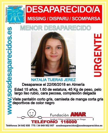 La Policía investiga la desaparición hace cuatro días de una menor de 15 años en Almería