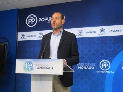 """El PP considera que Vara hará una """"carta a los Reyes Magos"""" en su intervención en el Debate sobre el Estado de la Región"""