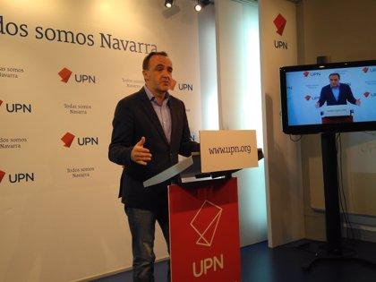 """Esparza (UPN) cuestiona """"la legitimidad del PNV para hablar del acercamiento de presos de ETA"""""""