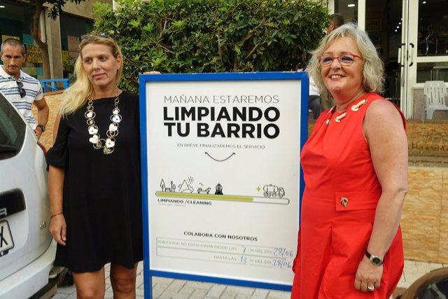 Teresa Porras carteles de baldeo de limasa