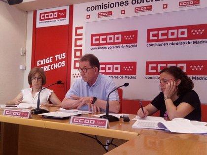 Más de la mitad de parados en la Comunidad no está protegida por algún tipo de prestación, según CCOO