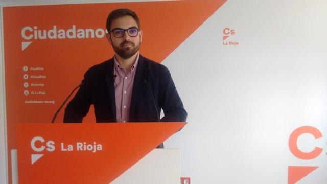 El portavoz de Grupo Parlamentario ciudadanos, Diego Ubis