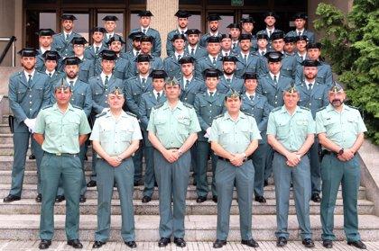 Casi cuarenta agentes de la Guardia Civil en prácticas comienzan a trabajar en Asturias