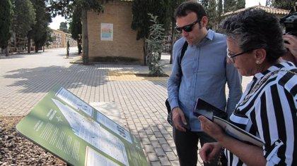 Un centro expositivo y tres sendas divulgan la fauna, flora y rocas del Cementerio de Torrero de Zaragoza