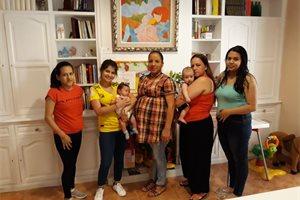 La casa de acogida para mujeres embarazadas que sirve de refugio a cinco iberoamericanas
