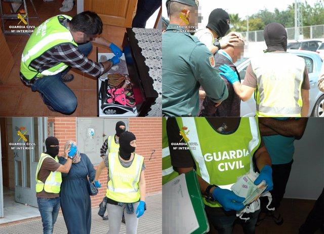 La Guardia Civil Desarticula Una Organización Criminal Dedicada Al Tráfico Ilega
