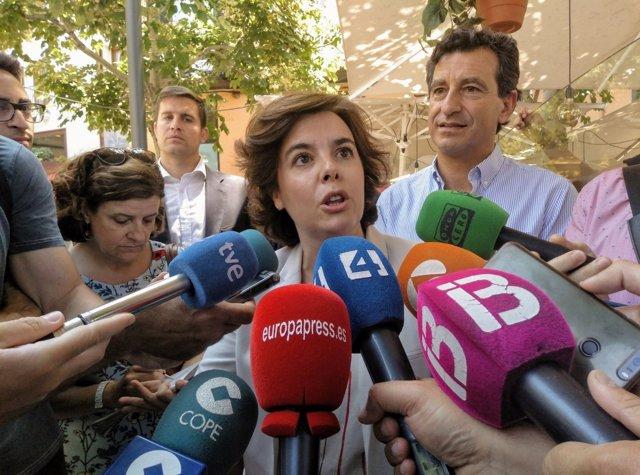 Soraya Sáenz de Santamaria, en declaraciones a los medios