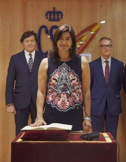 María José Rienda en la toma de posesión como presidenta del CSD