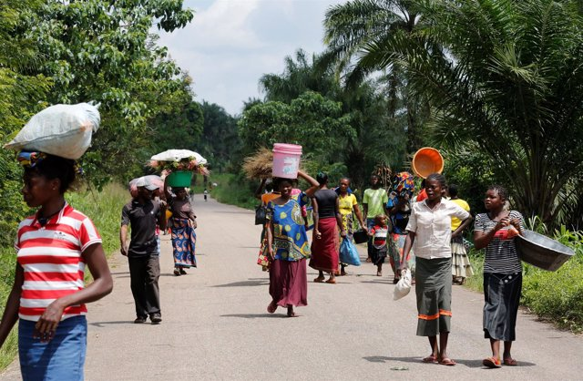 Desplazados por la violencia en la región de Kasai