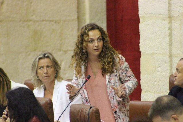 Marta Escrivá en el Parlamento de Andalucía