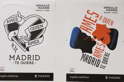 Madrid se engalana para el Orgullo y un rediseñado 'Ames a quien ames, Madrid te quiere' inunda la ciudad