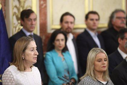 El Congreso homenajea a las víctimas del terrorismo, representadas por la diputada del PP Mari Mar Blanco