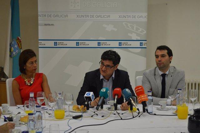 Tomás Fernández-Couto en rueda de prensa en Ourense