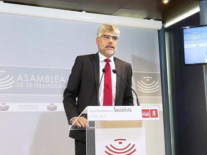 """El PSOE destaca que Vara ha sido capaz de """"perimetrar"""" los """"retos"""" y """"problemas"""" para apuntalar el """"futuro"""""""