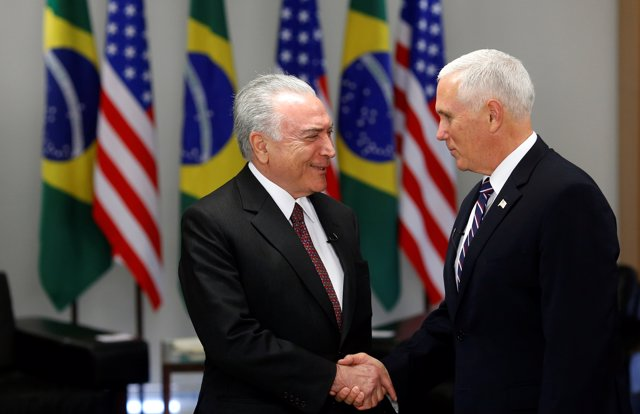 Michel Temer y Mike Pence