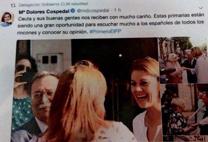 PSOE pide responsabilidades a PP por usar la cuenta de Twitter de Delegación a favor de Cospedal