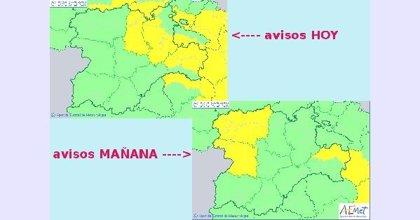 Tormentas con granizo este miércoles en Burgos, Palencia y Soria