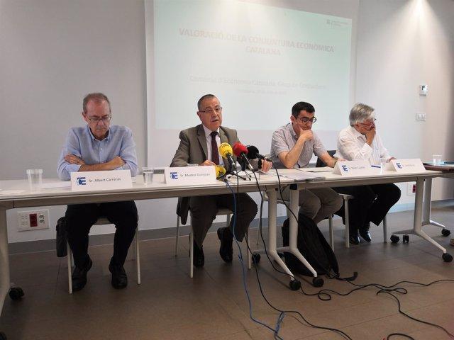 Albert Carreras, Modest Guinjoan, Xavier Cuadras y Jordi Goula
