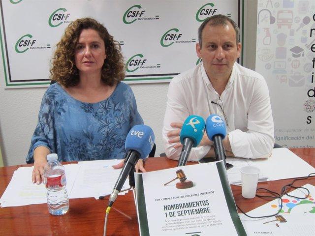 Mercedes Barrado y Mario Gutiérrez, dirigentes de CSI-F