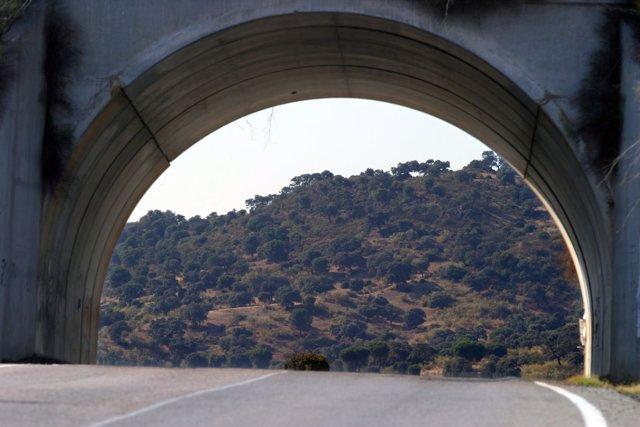 Uno De Los Túneles De La Autovía A-66.
