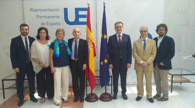 José Manuel Franco en la Oficina de la Comunidad de Madrid en Bruselas