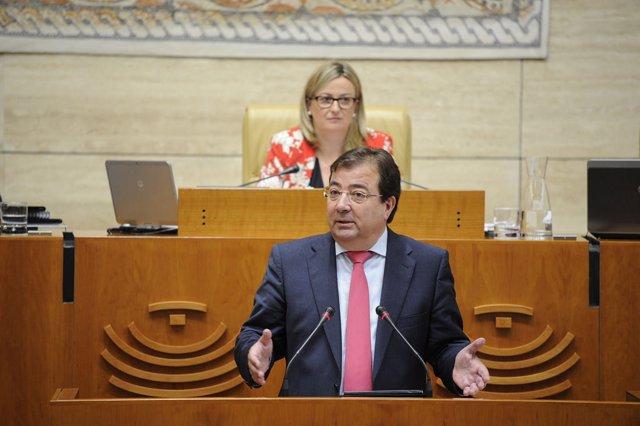 Vara en su respuesta a los partidos en el Debate sobre el Estado de la Región
