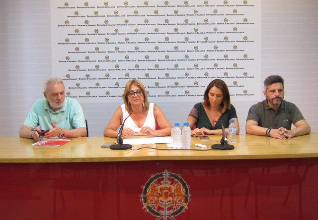 Rueda de prensa del Grupo Socialista en la Diputación de Valladolid