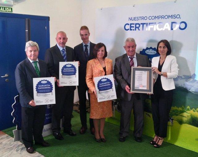 Presentación sello Calidad ganadera Central Lechera Asturiana