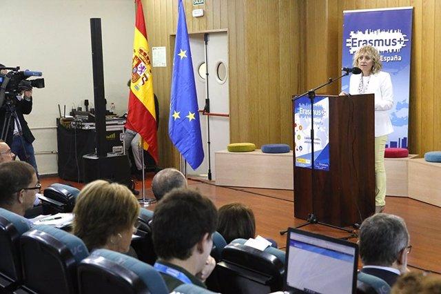 Díaz Tezanos en la inauguración de la jornada de Erasmus+