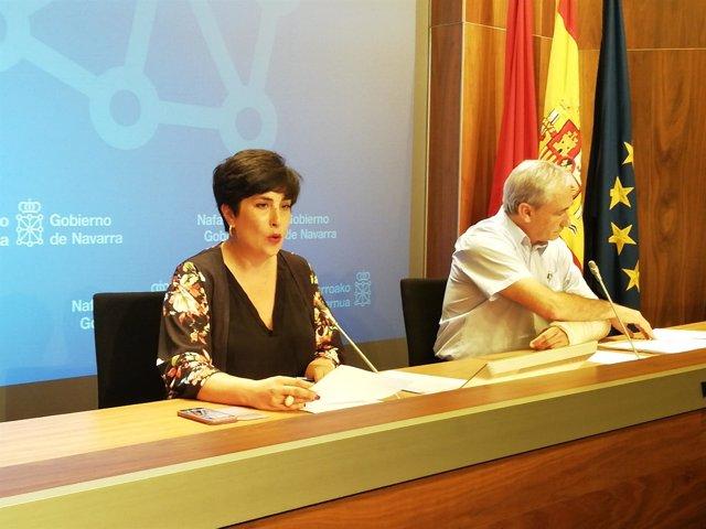 María Solana y Mikel Aranburu.