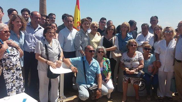 Cospedal con militantes y cargos del PP en Jerez