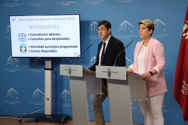 Manuel Villegas, en la rueda de prensa posterior al Consejo de Gobierno