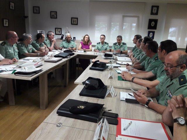 Valladolid.- Reunión de Barcones con mandos de la Guardia Civil