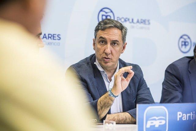 García-Hernández, en la campaña de primarias del PP