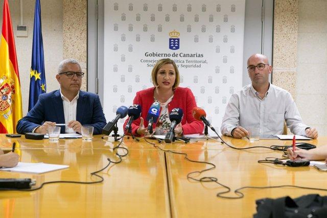 Sebastián Quintana, Nazaret Díaz y Néstor Padrón
