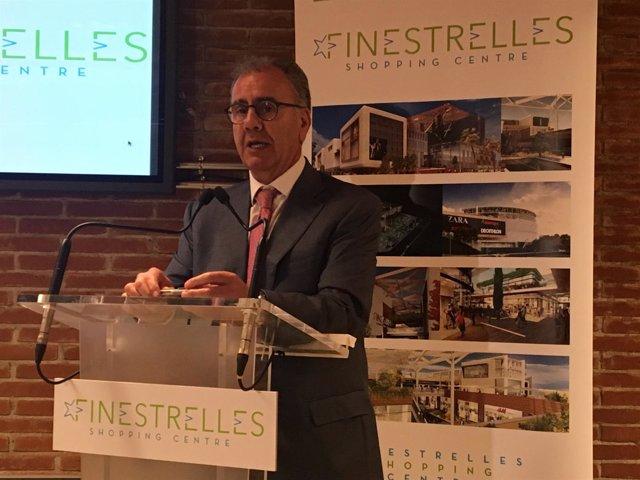 El consejero delegado de Equilis en España, Víctor Gómez, en rueda de prensa
