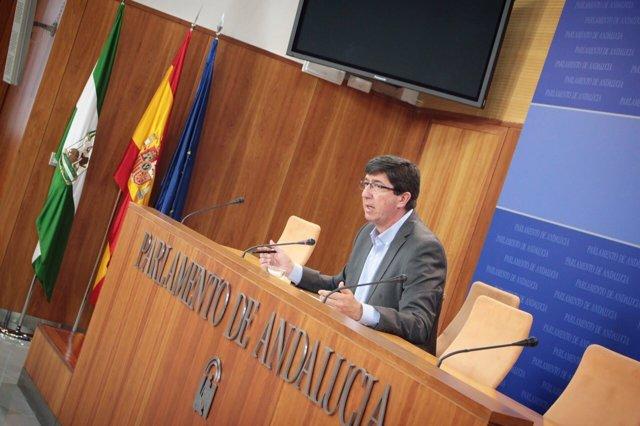 El presidente y portavoz de Ciudadanos Andalucía, Juan Marín