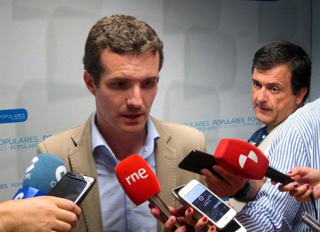 Salamanca.- Pablo Casado atiende hoy a los medios