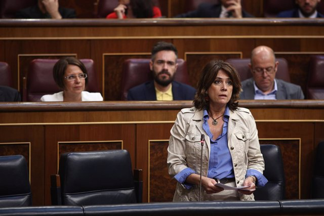 Dolores Delgado interviene en la sesión de control al Gobierno en el Congreso