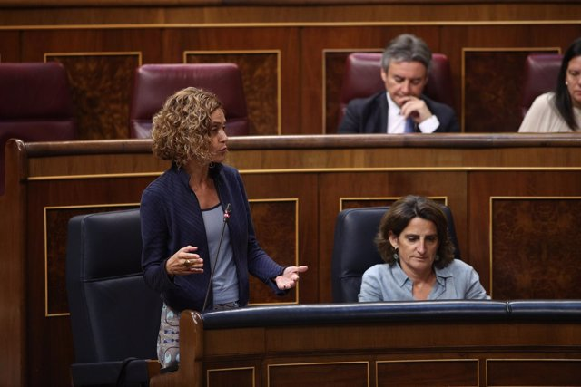 Meritxell Batet interviene en la sesión de control al Gobierno en el Congreso