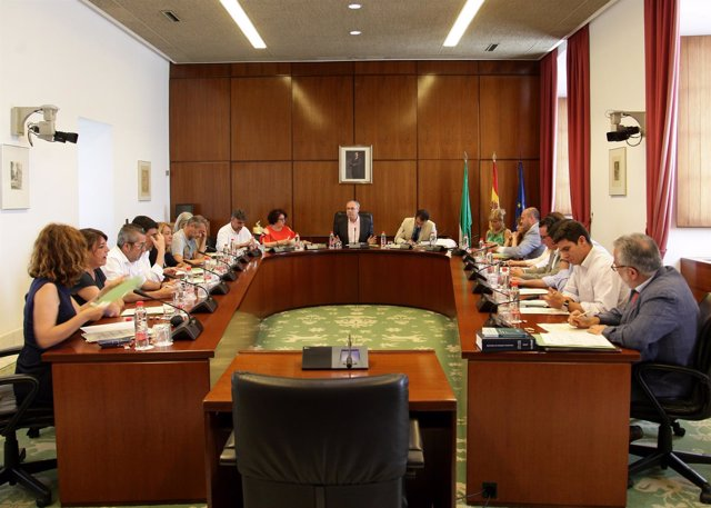 Reunión de la Junta de Portavoces del Parlamento andaluz